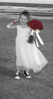 flower girl on myrtle beach